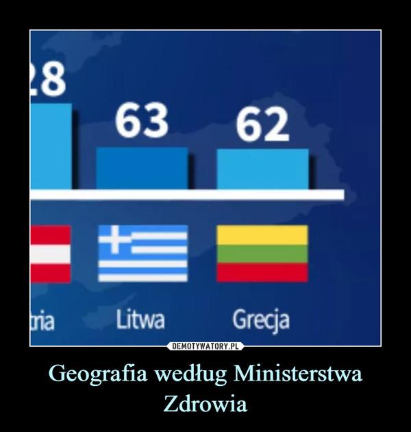 Geografia według Ministerstwa Zdrowia –