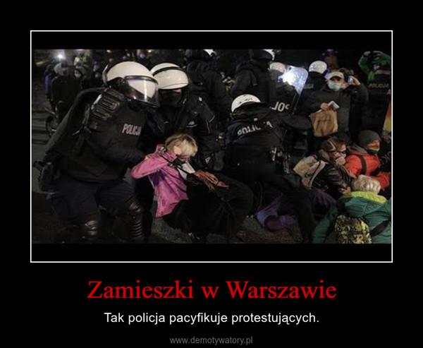 Zamieszki w Warszawie – Tak policja pacyfikuje protestujących.