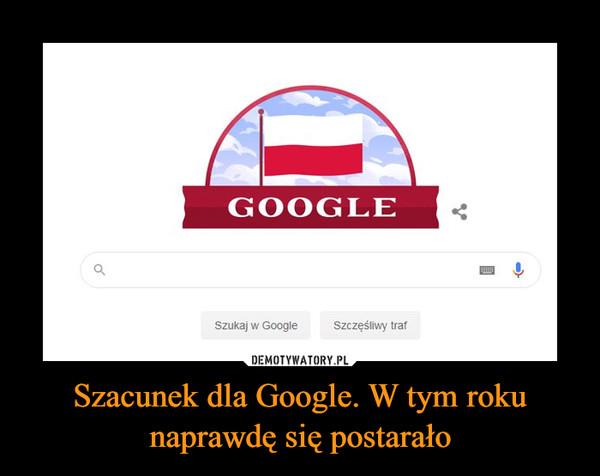 Szacunek dla Google. W tym roku naprawdę się postarało –
