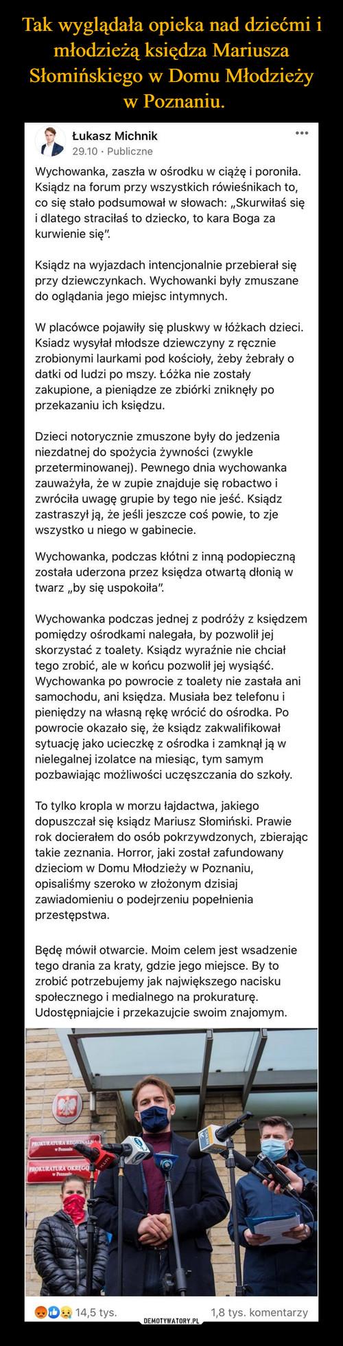 Tak wyglądała opieka nad dziećmi i młodzieżą księdza Mariusza Słomińskiego w Domu Młodzieży  w Poznaniu.