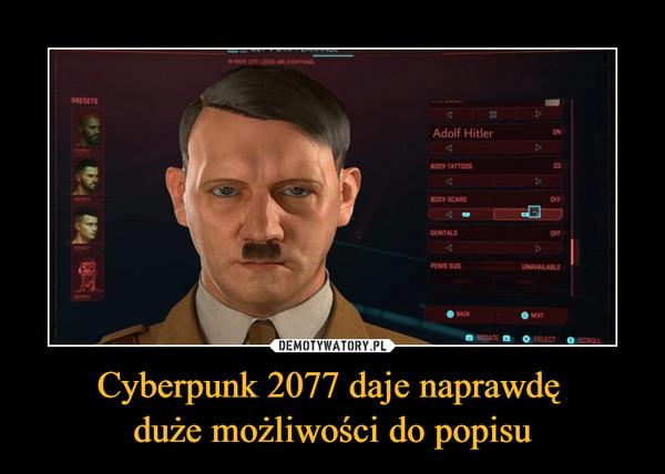 Cyberpunk 2077 daje naprawdę duże możliwości do popisu –