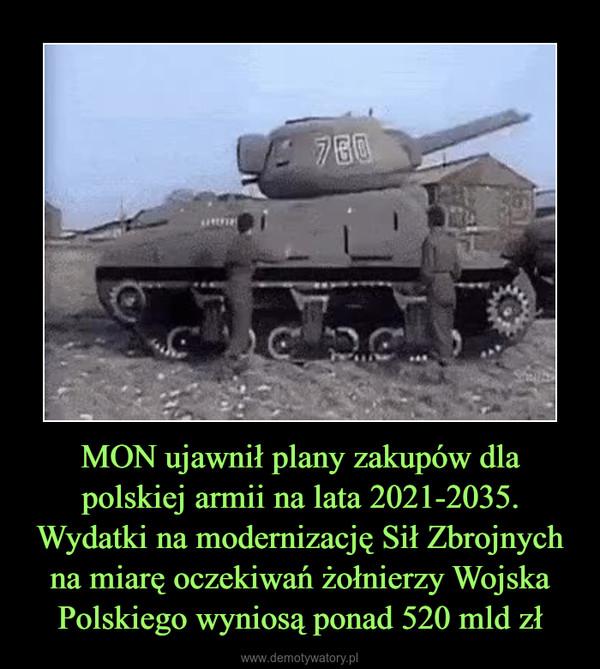 MON ujawnił plany zakupów dla polskiej armii na lata 2021-2035. Wydatki na modernizację Sił Zbrojnych na miarę oczekiwań żołnierzy Wojska Polskiego wyniosą ponad 520 mld zł –