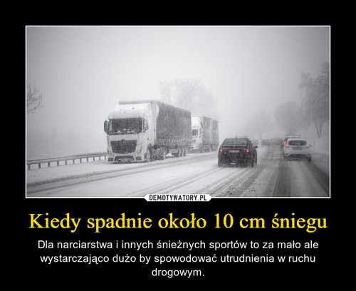 Kiedy spadnie około 10 cm śniegu