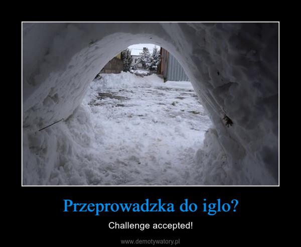 Przeprowadzka do iglo? – Challenge accepted!
