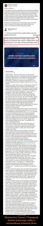 Ministerstwo Cenzury i Propagandy dzielnie kontynuuje walkę ze znienawidzoną wolnością słowa. –