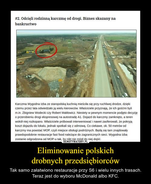 Eliminowanie polskich drobnych przedsiębiorców