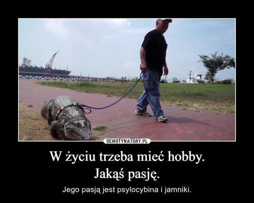 W życiu trzeba mieć hobby. Jakąś pasję.