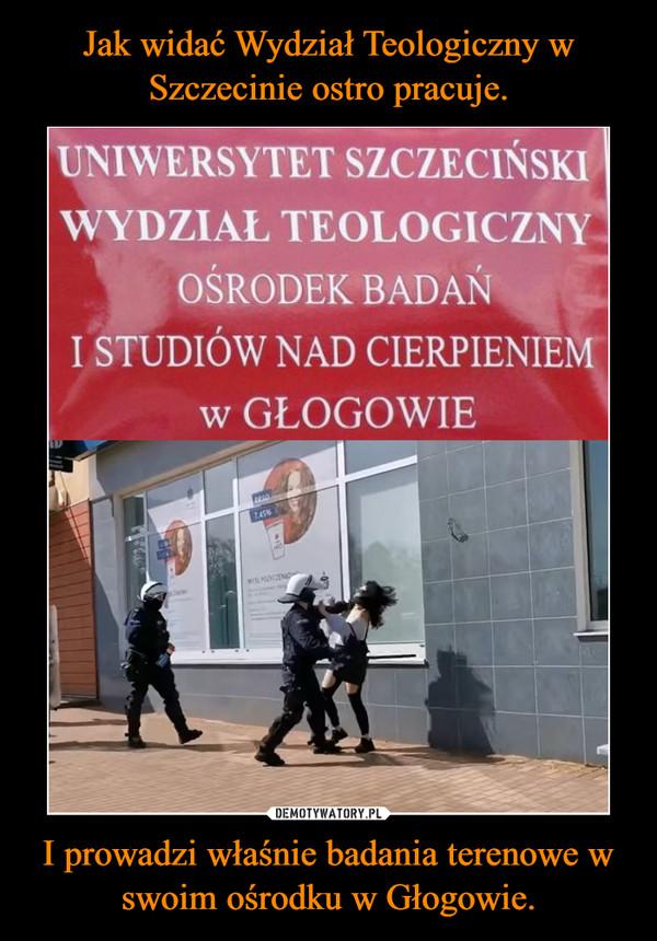 I prowadzi właśnie badania terenowe w swoim ośrodku w Głogowie. –