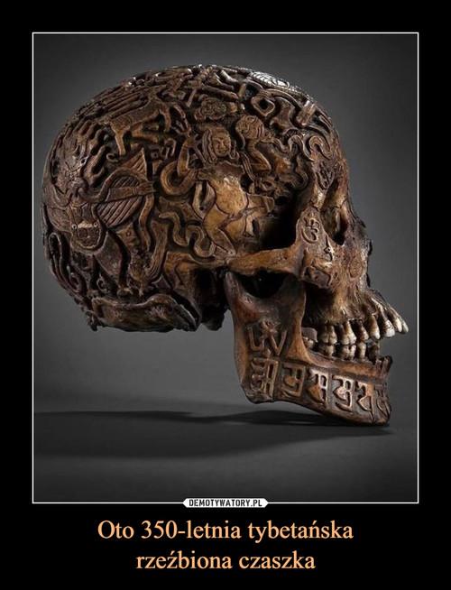 Oto 350-letnia tybetańska rzeźbiona czaszka