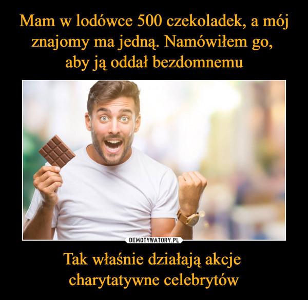 Tak właśnie działają akcje charytatywne celebrytów –
