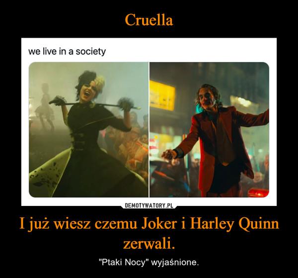 """I już wiesz czemu Joker i Harley Quinn zerwali. – """"Ptaki Nocy"""" wyjaśnione."""