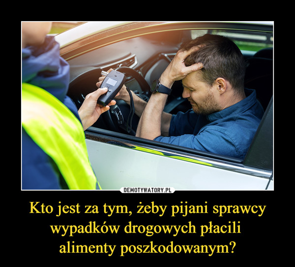 Kto jest za tym, żeby pijani sprawcy wypadków drogowych płacili alimenty poszkodowanym? –