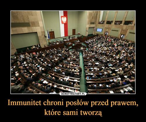 Immunitet chroni posłów przed prawem, które sami tworzą