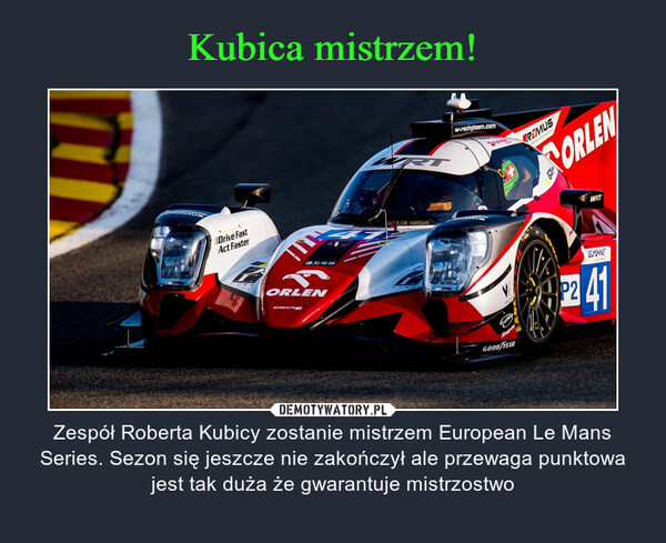Kubica mistrzem!