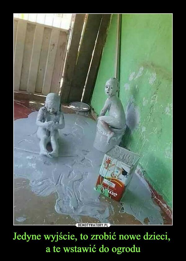 Jedyne wyjście, to zrobić nowe dzieci, a te wstawić do ogrodu –